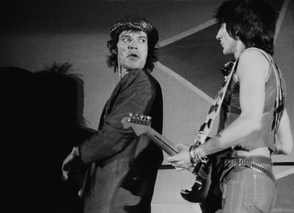 rolling stones mick jagger ron wood